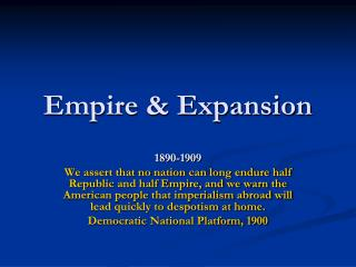 Empire & Expansion