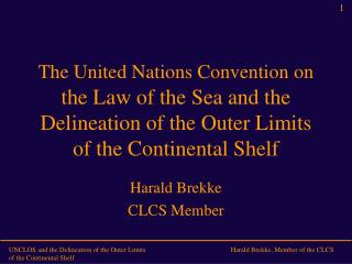 The United Nations Convention on  the Law of the Sea and the Delineation of the Outer Limits of the Continental Shelf