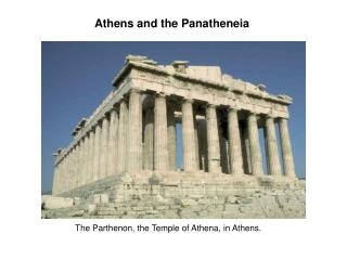 Athens and the Panatheneia