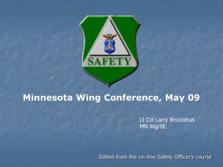 Minnesota Wing Conference, May 09