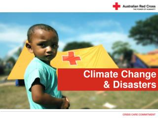 Climate Change  & Disasters