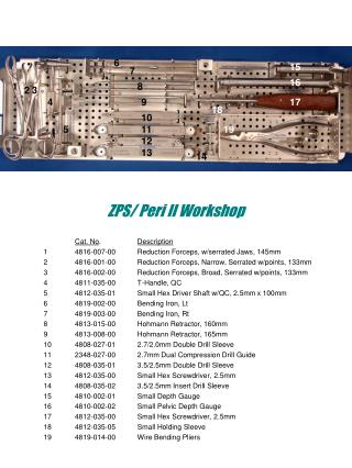 ZPS/ Peri II Workshop
