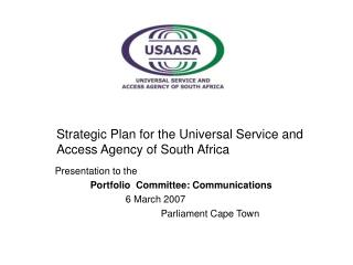 Strategic Plan for the Universal Service and Access Agency of South Africa
