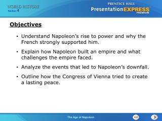 Understand Napoleon's rise to power and why the French strongly supported him.