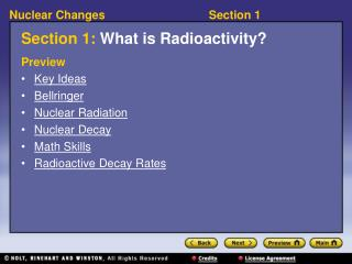 Section 1: What is Radioactivity?