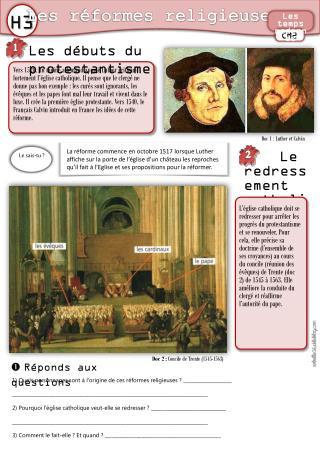 Les débuts du protestantisme