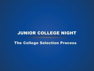 Junior College Night