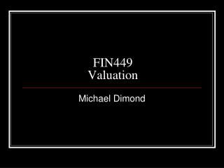 FIN449 Valuation