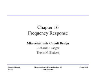 Chapter 16 Frequency Response