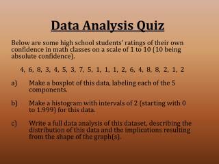 Data Analysis Quiz