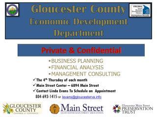 Gloucester County  Economic Development Department