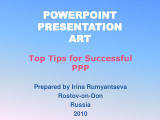 POWERPOINT PRESENTATION ART