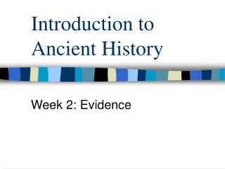 Introduction to Ancient History