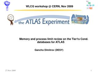 WLCG workshop @ CERN, Nov 2009