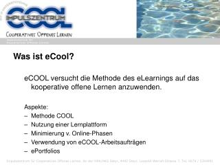 Was ist eCool?