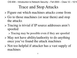 CIS 659   Introduction to Network Security   Fall 2003 ...
