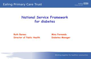 National Service Framework for diabetes