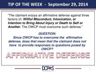TIP OF THE WEEK - September 29, 2014