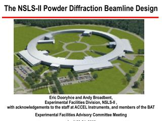 The NSLS-II Powder Diffraction Beamline Design