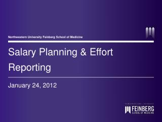 Salary Planning & Effort Reporting
