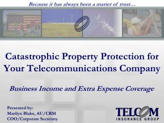 Catastrophic Property Protection for Your Telecommunications Company