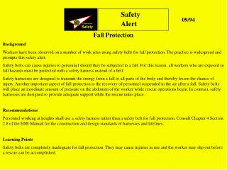 Fall Protection Background