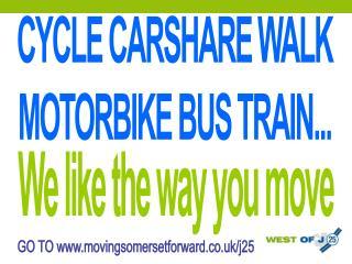 CYCLE CARSHARE WALK MOTORBIKE BUS TRAIN...