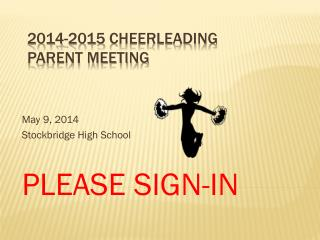 2014-2015 Cheerleading Parent Meeting