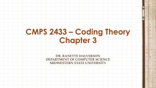 CMPS 2433 – Coding Theory Chapter 3