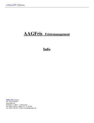AAGFris Frisörmanagement