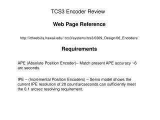 TCS3 Encoder Review