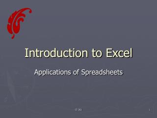 Introduction to Excel