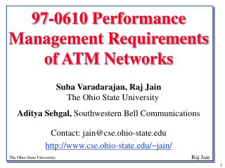 97-0610 Performance Management Requirements of ATM Networks