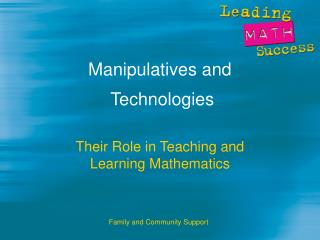 Manipulatives and  Technologies