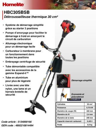 HBC30SBSB Débroussailleuse thermique 30 cm³