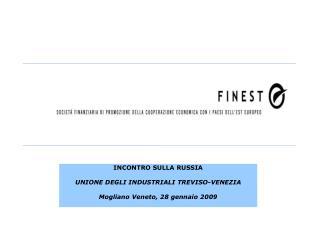 INCONTRO SULLA RUSSIA UNIONE DEGLI INDUSTRIALI TREVISO-VENEZIA Mogliano Veneto, 28 gennaio 2009