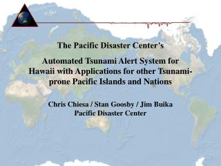 PDC Automated Tsunami Alert System, 1