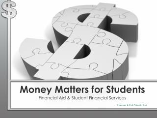 Money Matters for Students