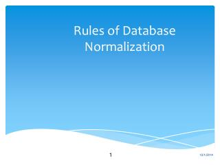 Rules of Database Normalization
