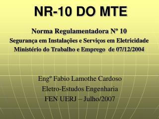 NR-10 DO MTE