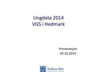 Ungdata 2014 VGS i Hedmark