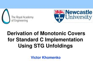 Derivation of Monotonic Covers for Standard C Implementation Using STG Unfoldings
