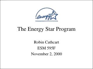 The Energy Star Program