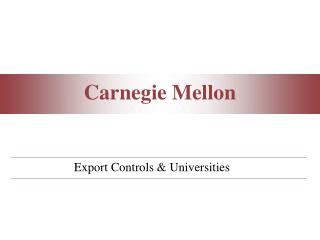 Export Controls & Universities