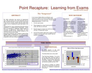 Point Recapture: Learning from Exams