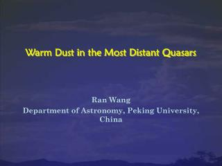 Warm Dust in the Most Distant Quasars