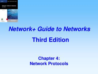 Chapter 4:   Network Protocols