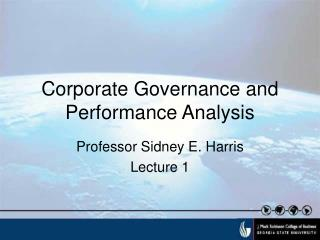 Corporate Governance and Performance Analysis