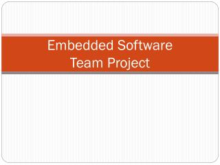 Embedded Software Team Project