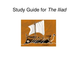 Study Guide for  The Iliad